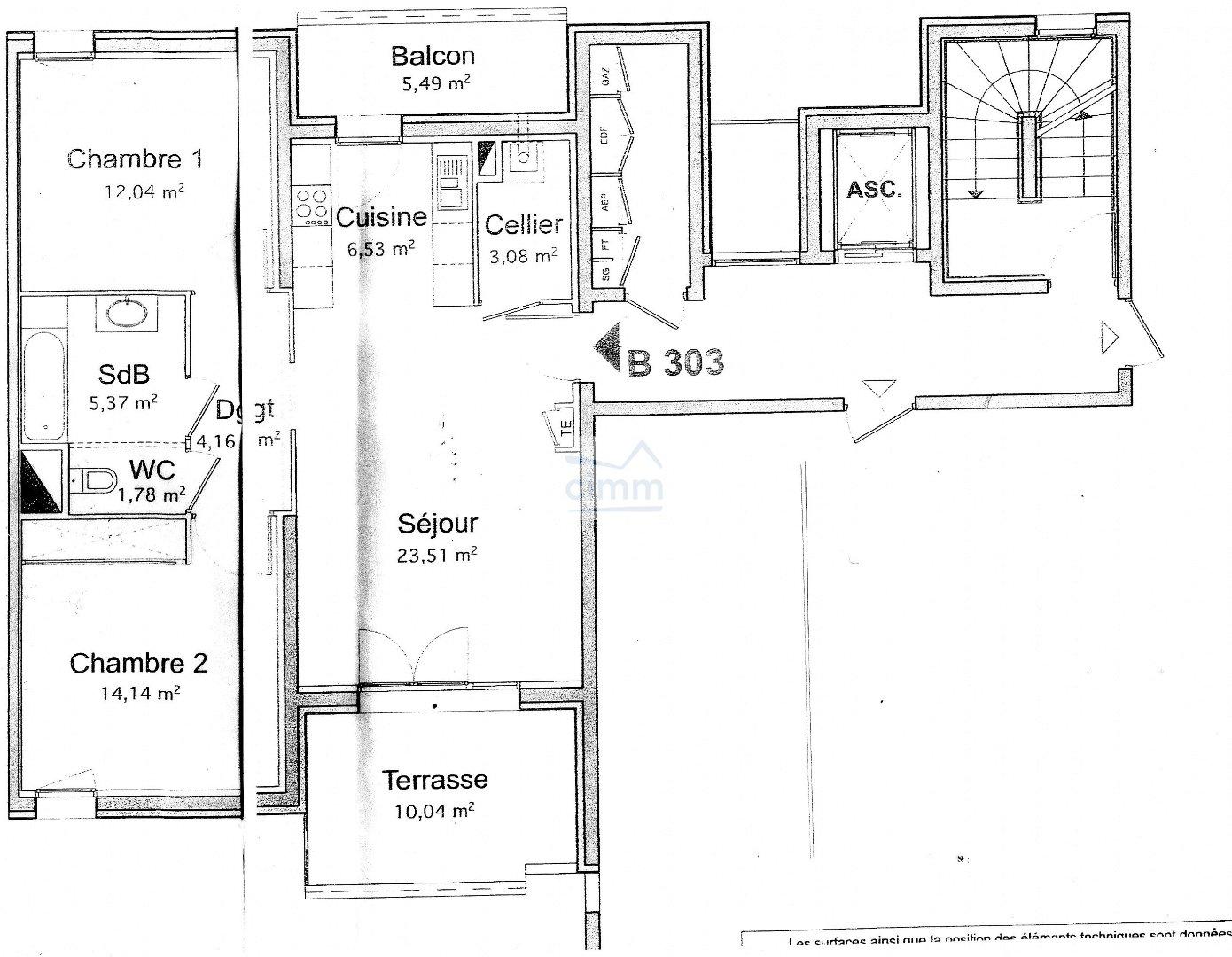 location appartement 3 pièces MONTELIMAR 26200