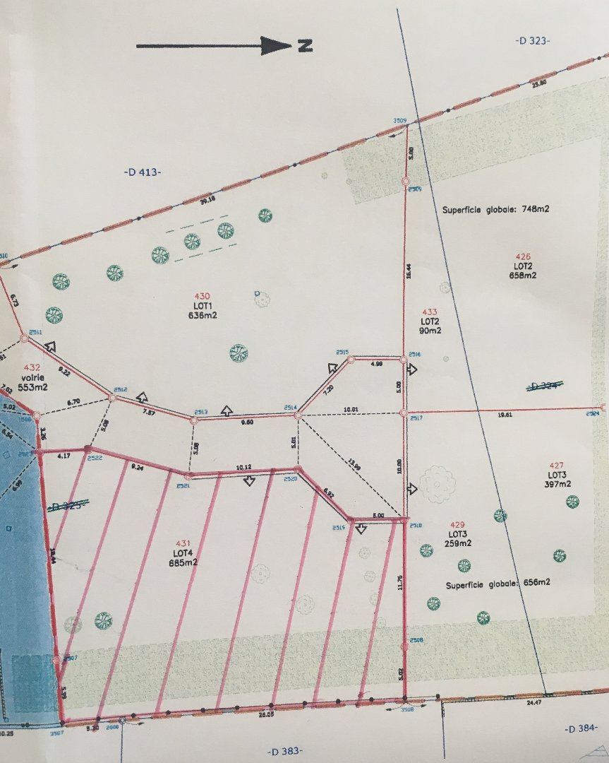 vente terrain LONGCHAMP LONGCHAMP 21110