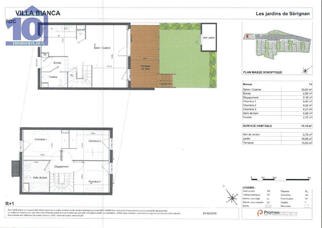 location maison/villa 4 pièces SERIGNAN 34410