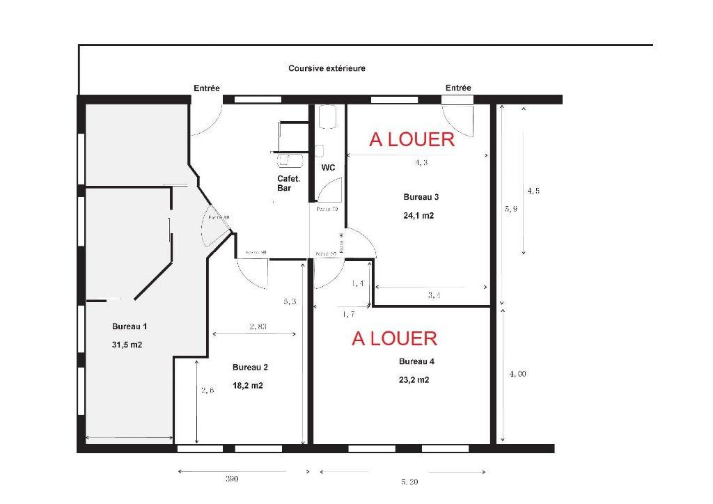 location bureaux SAINT CLEMENT DE RIVIERE SAINT CLEMENT DE RIVIERE 34980
