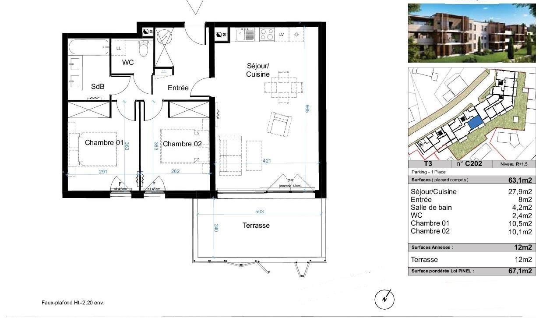 vente appartement 3 pièces CANDILLARGUES 34130