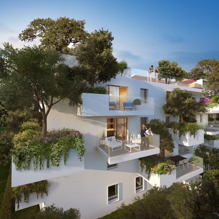 Montpellier, à proximité des Hopitaux, implantée sur une colline, nouvelle résidence à l'architecture en résonnance avec la nature, lignes épurées, joli T3 grand séjour, grandes chambres, terrasse et stationnement en sous sol. Prestations de standing.