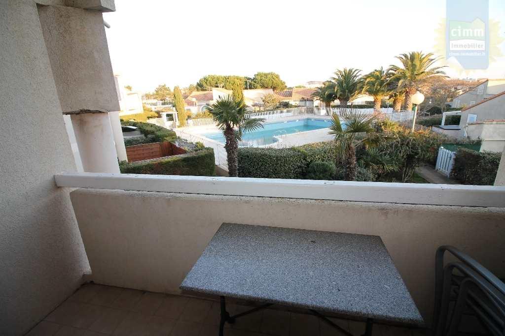 IMMOPLAGE VALRAS-PLAGE, agence immobilière, vente, location et location vacances appartement et maison entre Agde/Sete et Narbonne, proche Béziers - Appartement en résidence - VALRAS PLAGE - Location Vacances - 21m²