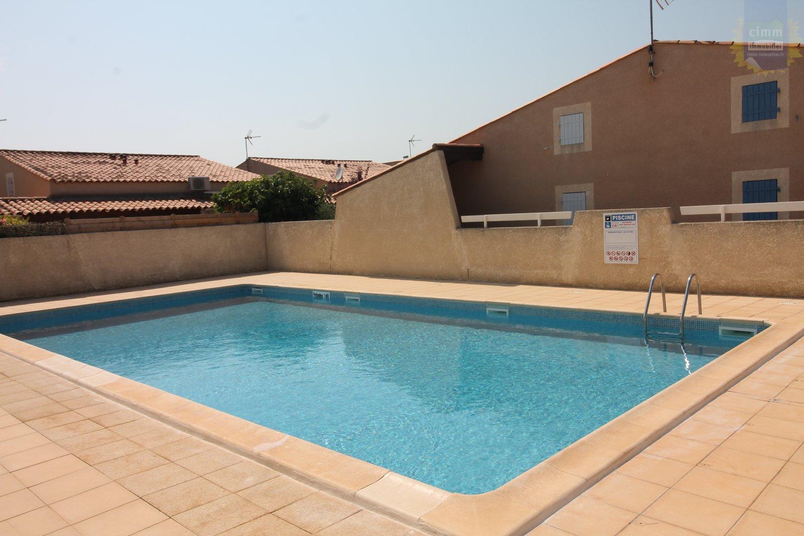 IMMOPLAGE VALRAS-PLAGE, agence immobilière, vente, location et location vacances appartement et maison entre Agde/Sete et Narbonne, proche Béziers - Pavillon - VALRAS PLAGE - Location Vacances - 30m²