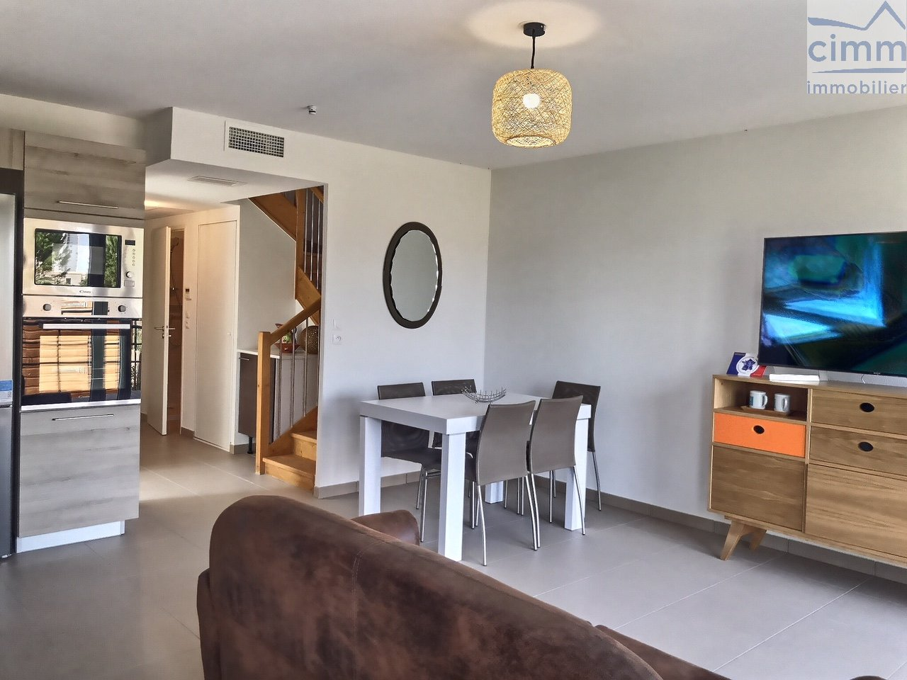IMMOPLAGE VALRAS-PLAGE, agence immobilière, vente, location et location vacances appartement et maison entre Agde/Sete et Narbonne, proche Béziers - Pavillon - SERIGNAN - Location Vacances - 95m²