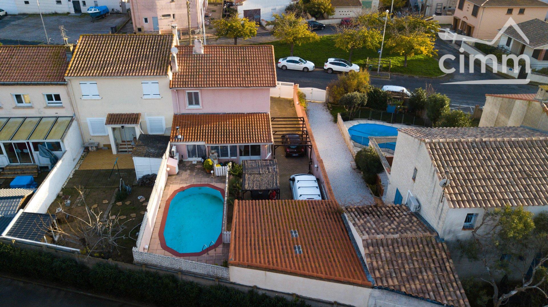 IMMOPLAGE VALRAS-PLAGE, agence immobilière, vente, location et location vacances appartement et maison entre Agde/Sete et Narbonne, proche Béziers - Maison - PORTIRAGNES PLAGE - Vente - 95m²