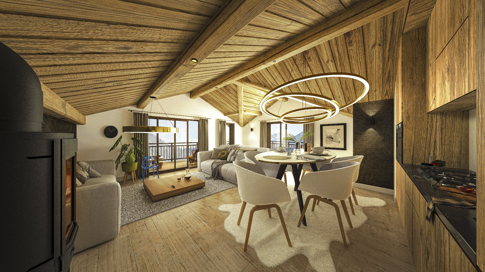 Programme neuf LE PALAIS DES DODES - 2 bedroom apartments, South exposed Accommodation in Champagny