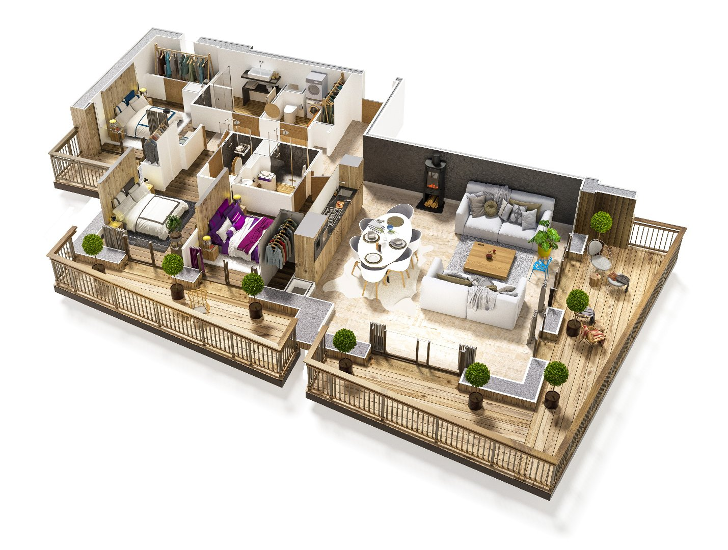 Programme neuf LE PALAIS DES DODES - 3 bedroom apartment Accommodation in Champagny